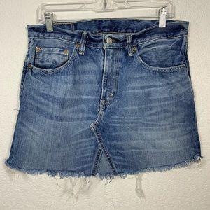 Levi's Denim Upcycled Skirt Size M/L